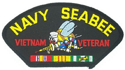Navy Seabee Vietnam Veteran Patches